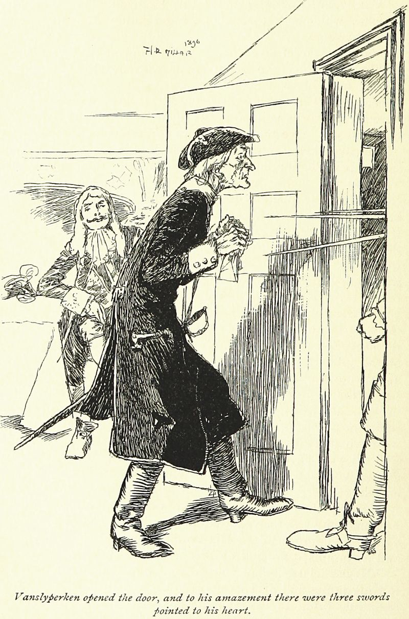 Snarleyyow by Frederick Marryat and illustrated by H. R. Millar, 1897