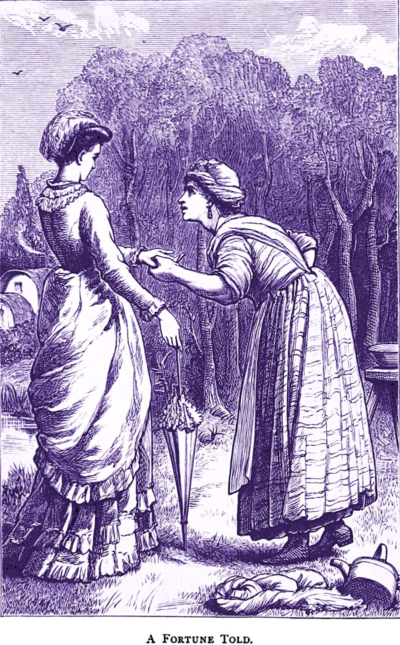 %22A fortune told,%22 from Blue Roses by Charlotte Louisa Hawkins Dempster, 1878