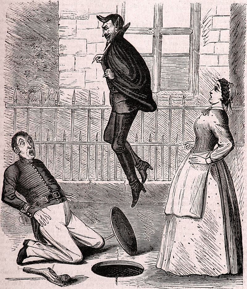 Spring-Heel'd Jack, the Terror of London, 1867 c
